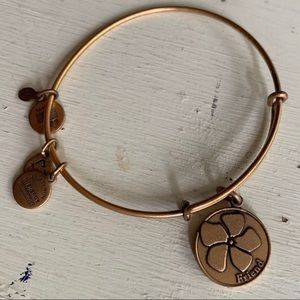 Alex & Ani :: goldtone friend charm bracelet